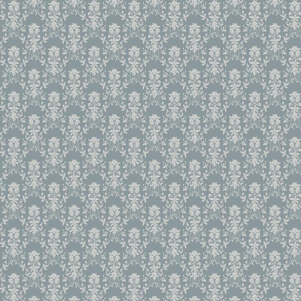 Alva Wallpaper - Indigo Blue - by Sandberg
