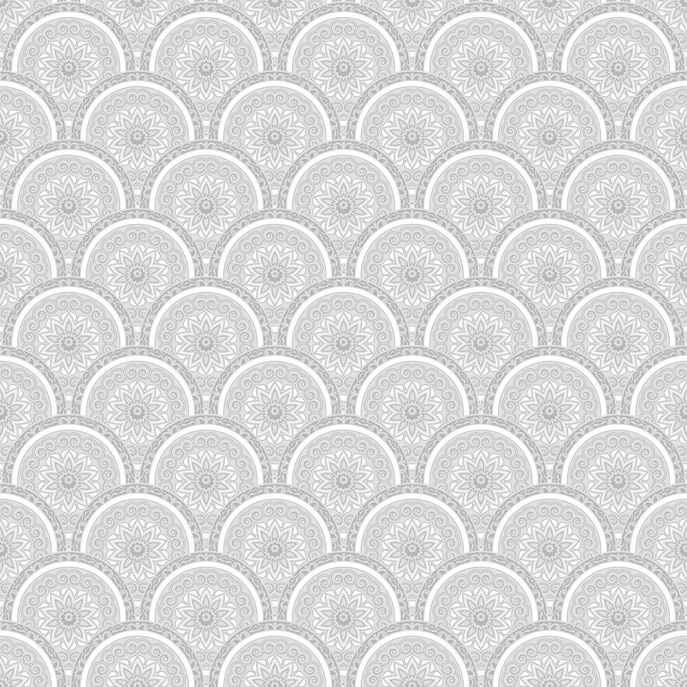 Divine Plates Wallpaper - Silver - by SK Filson