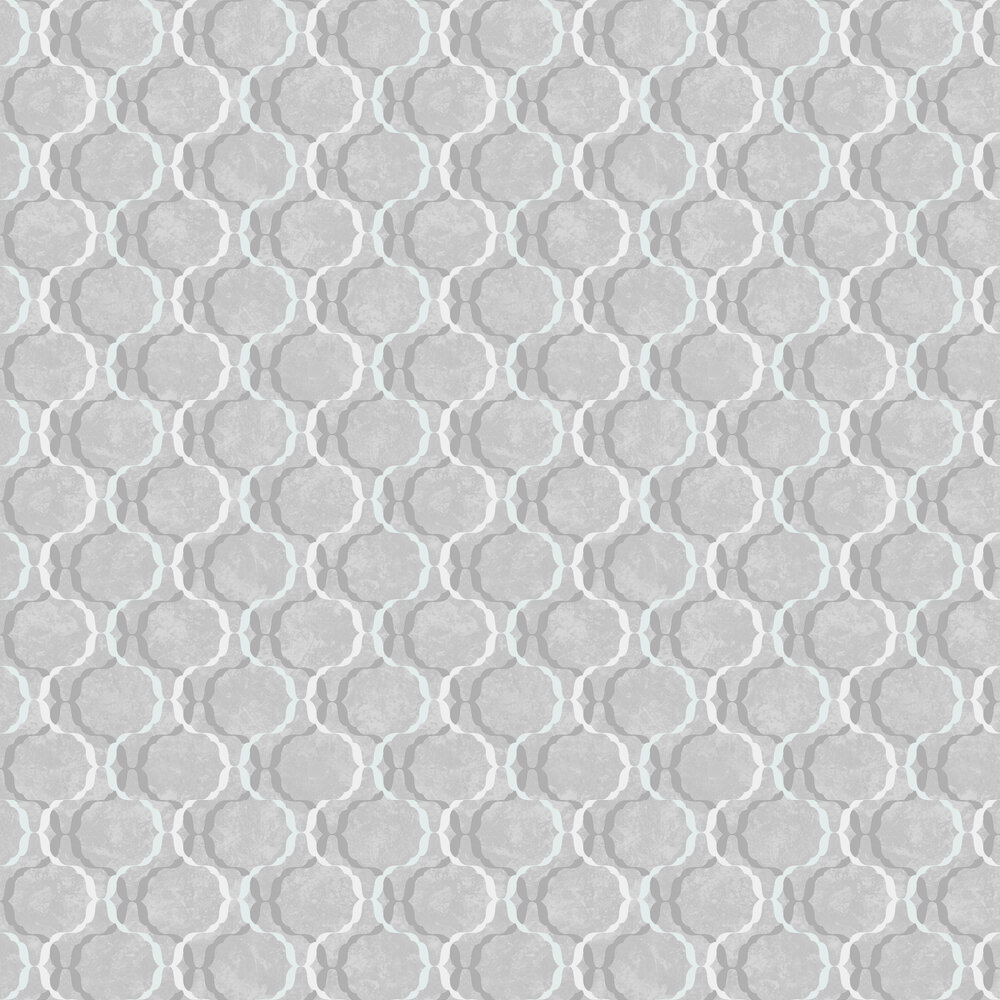 Diamond Trellis Wallpaper - Grey - by SK Filson