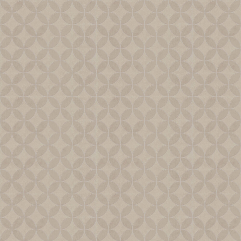 Geometric Circles Wallpaper - Stone - by SK Filson