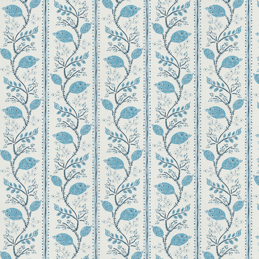 Nina Campbell Pomegranate Trail Indigo/ Blue Wallpaper - Product code: NCW4390-01