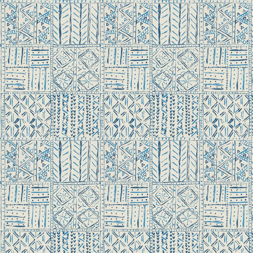 Nina Campbell Cloisters Indigo/ Blue Wallpaper - Product code: NCW4391-04