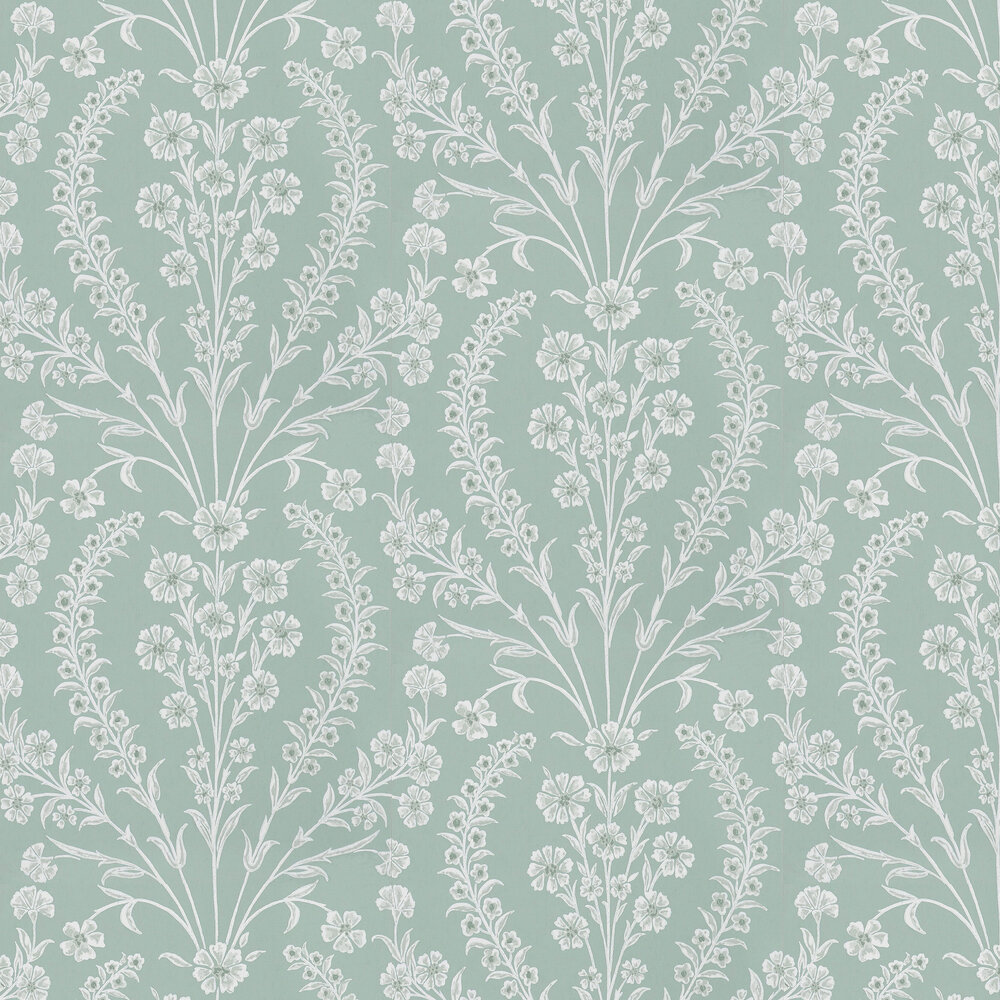 Nina Campbell Chelwood Aqua Wallpaper - Product code: NCW4392-01
