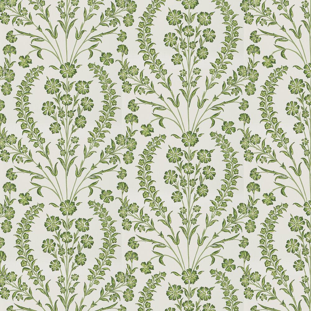 Nina Campbell Chelwood Green/ Ivory Wallpaper - Product code: NCW4392-04