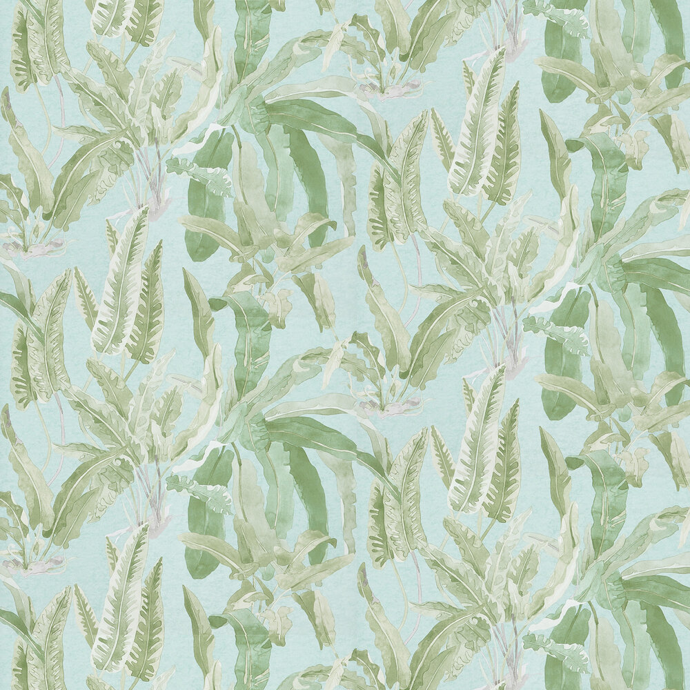 Nina Campbell Benmore Green/ Aqua Wallpaper - Product code: NCW4393-03