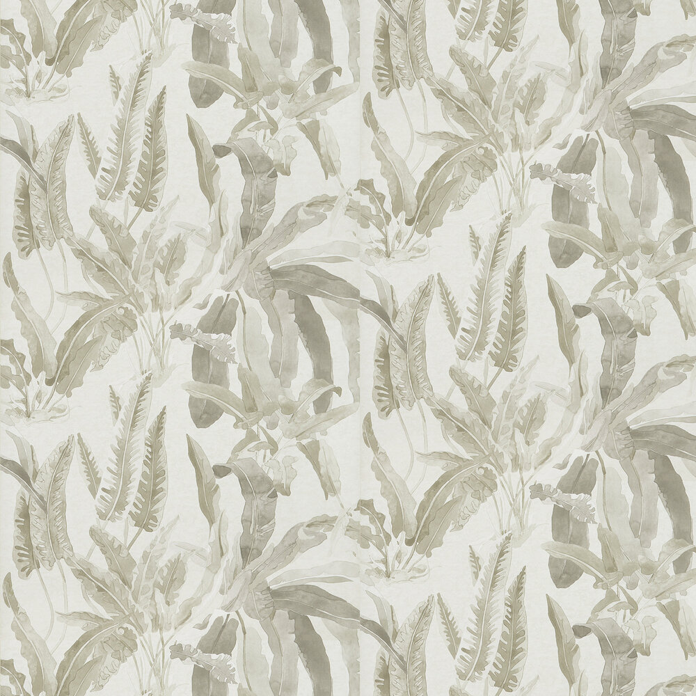 Benmore Wallpaper - Grey/ Ivory - by Nina Campbell