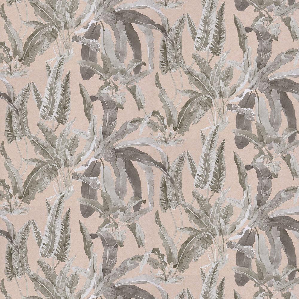 Benmore Wallpaper - Blush/ Grey - by Nina Campbell