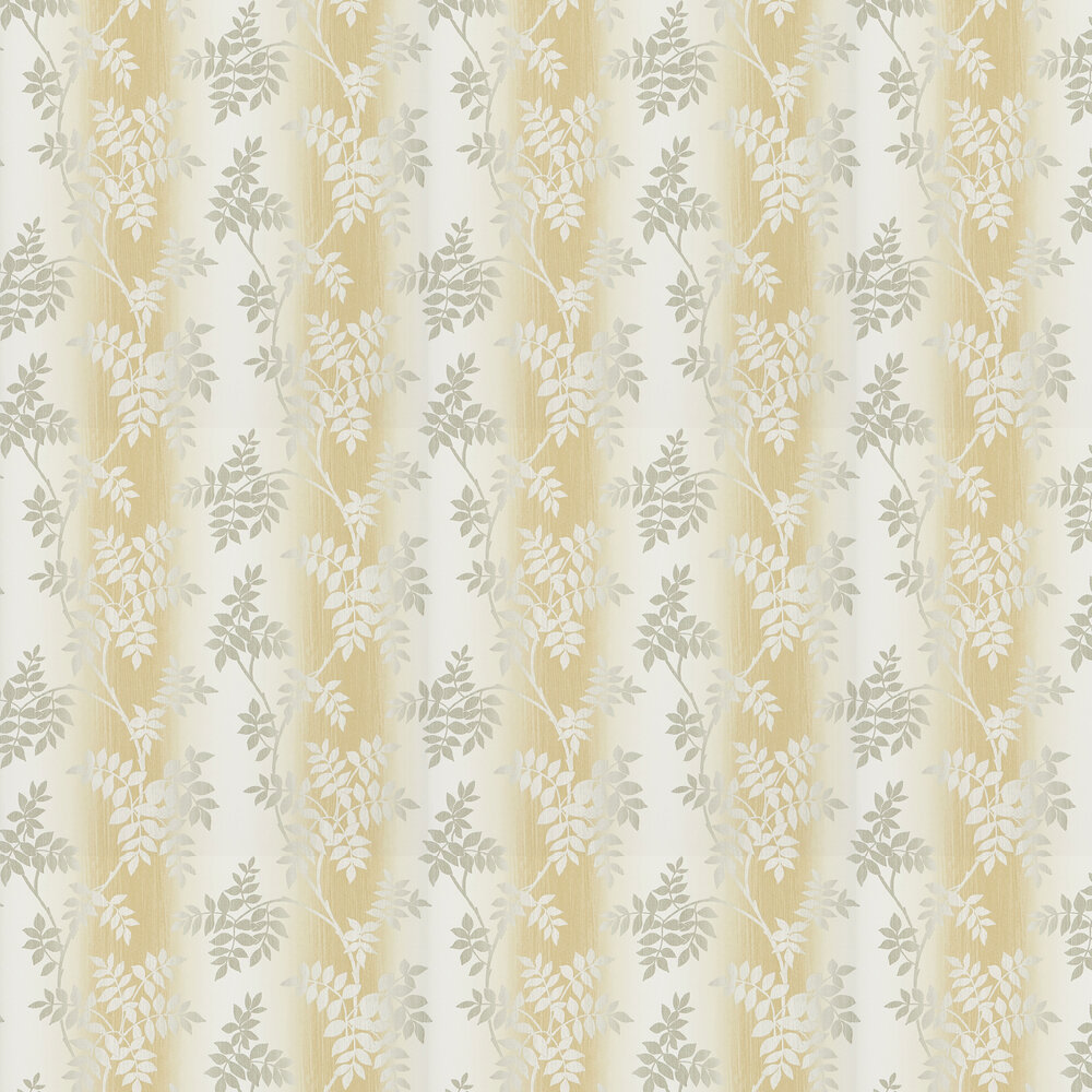 Nina Campbell Posingford Yellow/ Grey Wallpaper - Product code: NCW4394-02