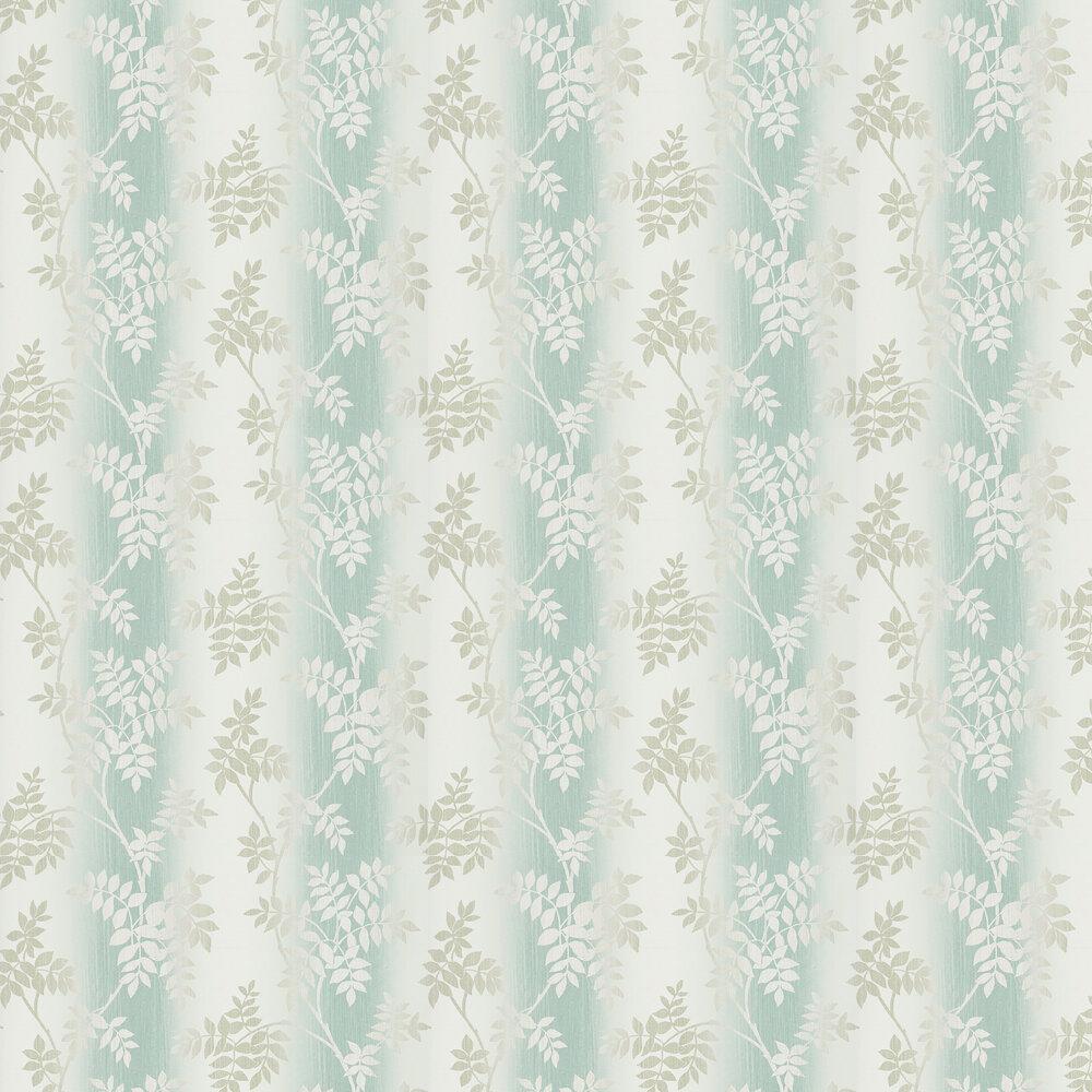 Posingford Wallpaper - Aqua/ Taupe - by Nina Campbell