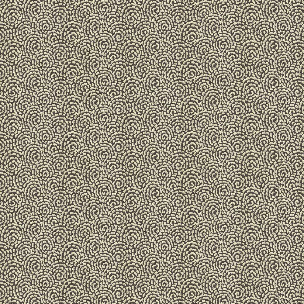 Kingsley Wallpaper - Ebony/ Gold - by Nina Campbell