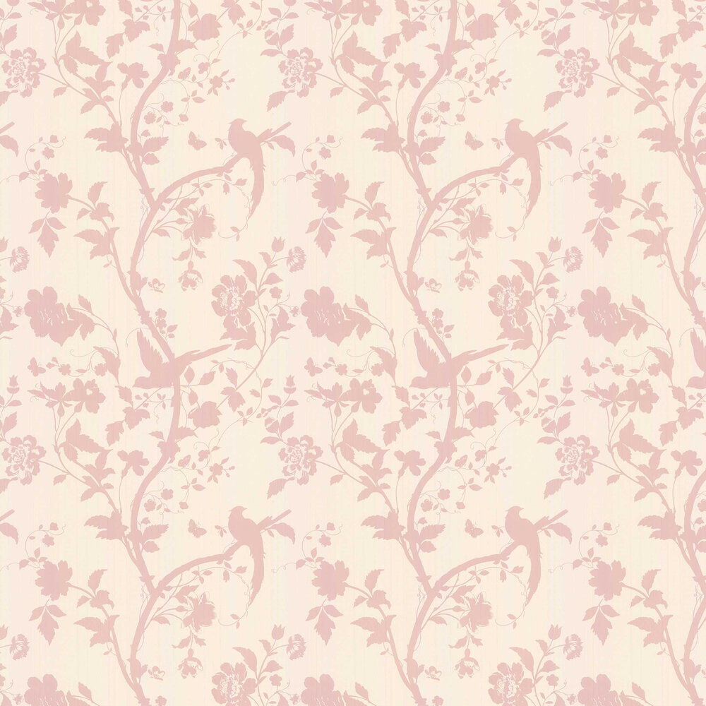 Laura Ashley Oriental Garden  Chalk Pink Wallpaper - Product code: 3308212