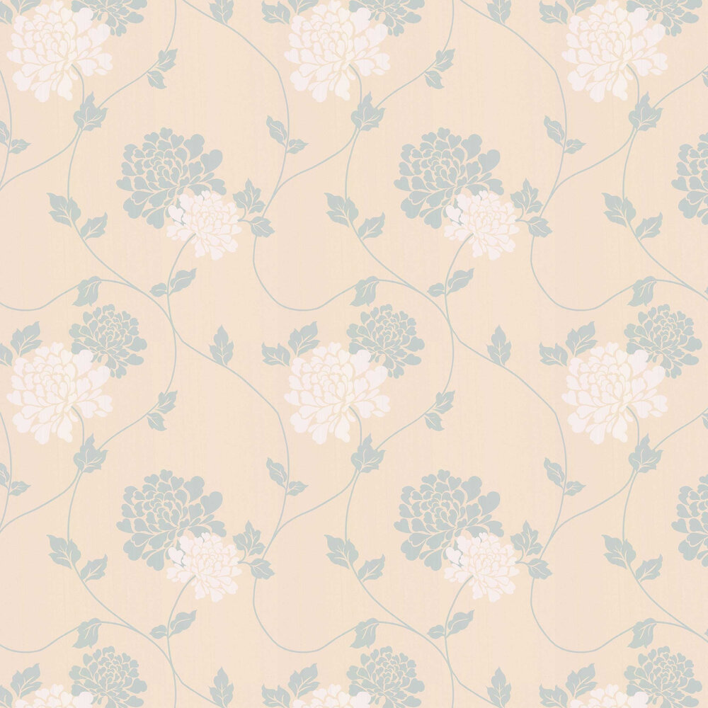 Laura Ashley Isodore  Duck Egg Wallpaper - Product code: 3375879