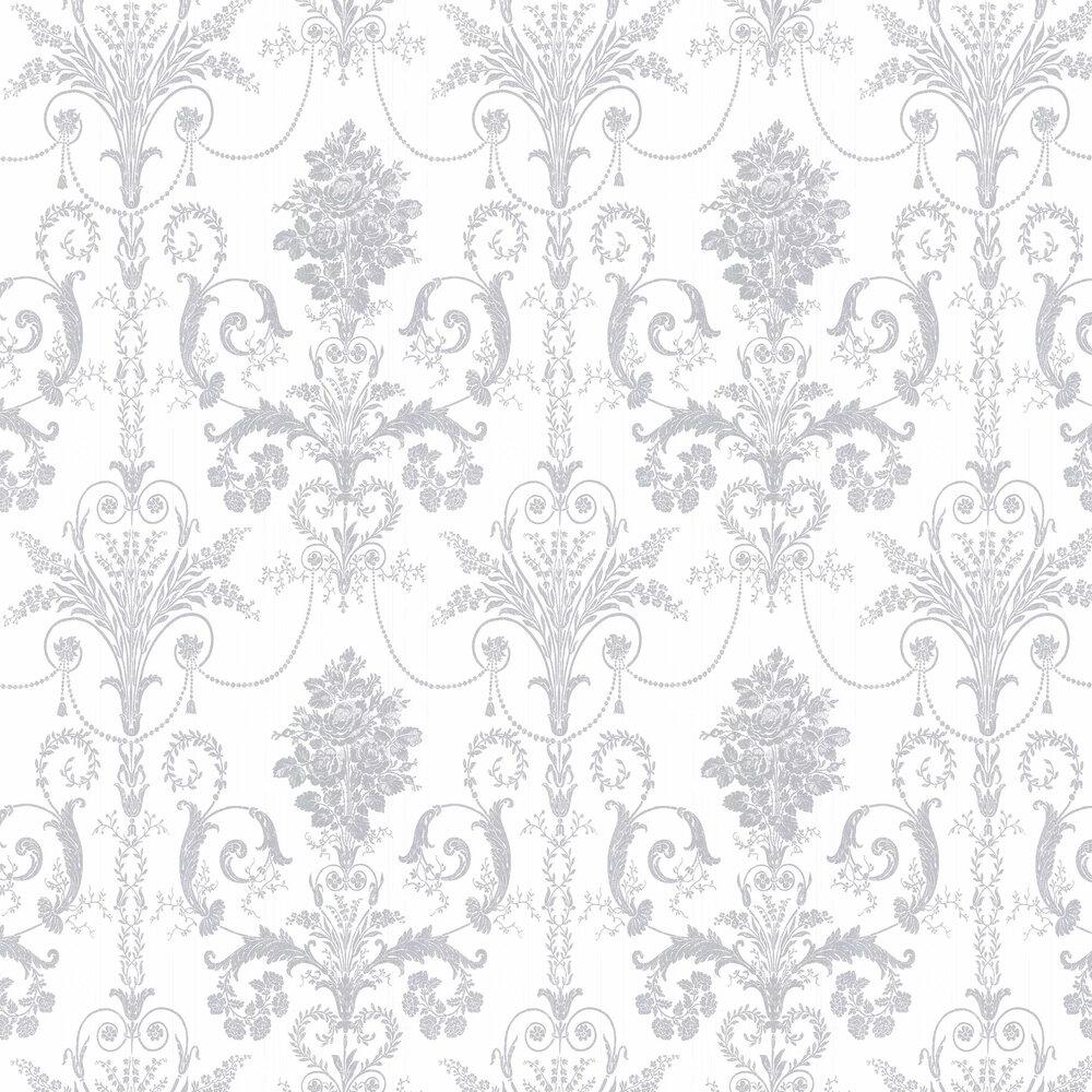 Laura Ashley Josette  Silver Wallpaper - Product code: 3568680
