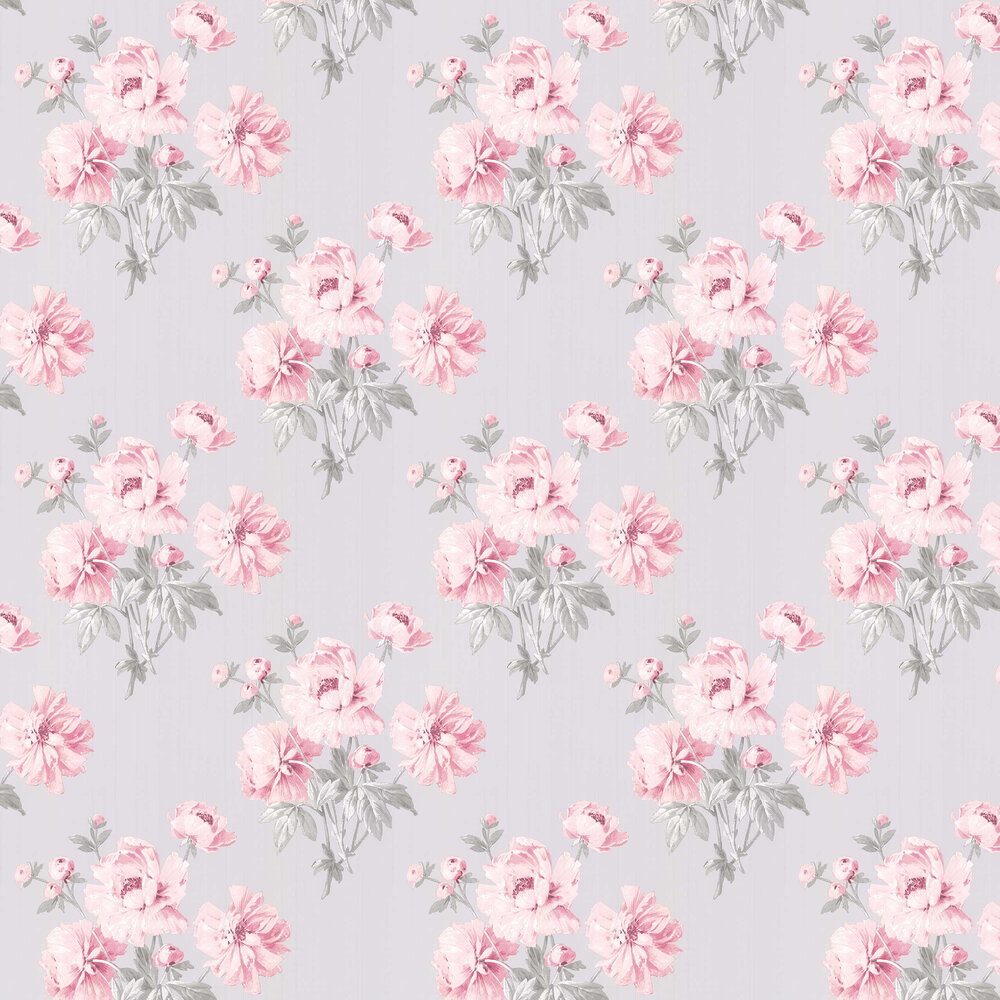 Beatrice By Laura Ashley Cyclamen Wallpaper Wallpaper Direct