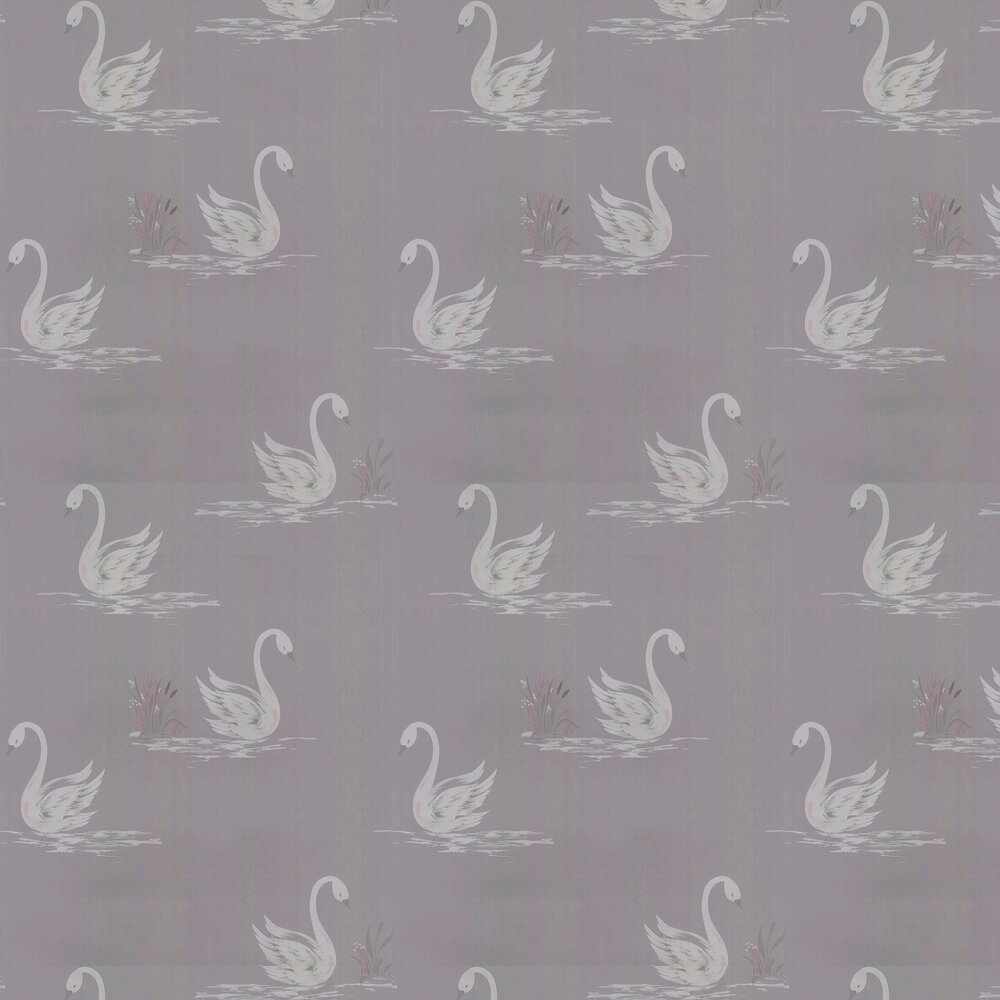 Laura Ashley Swans Silver Wallpaper - Product code: 3635712