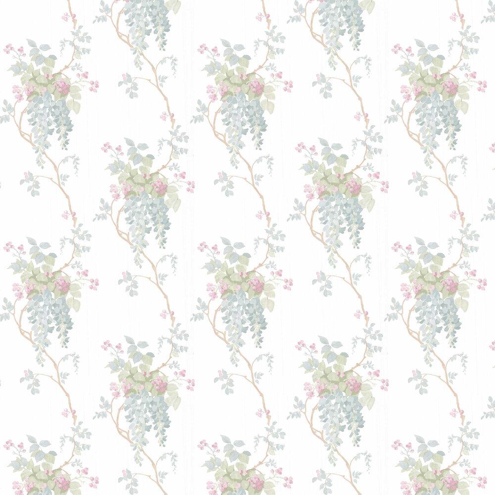 Laura Ashley Wisteria Pistachio / Duck Egg Wallpaper - Product code: 3661974