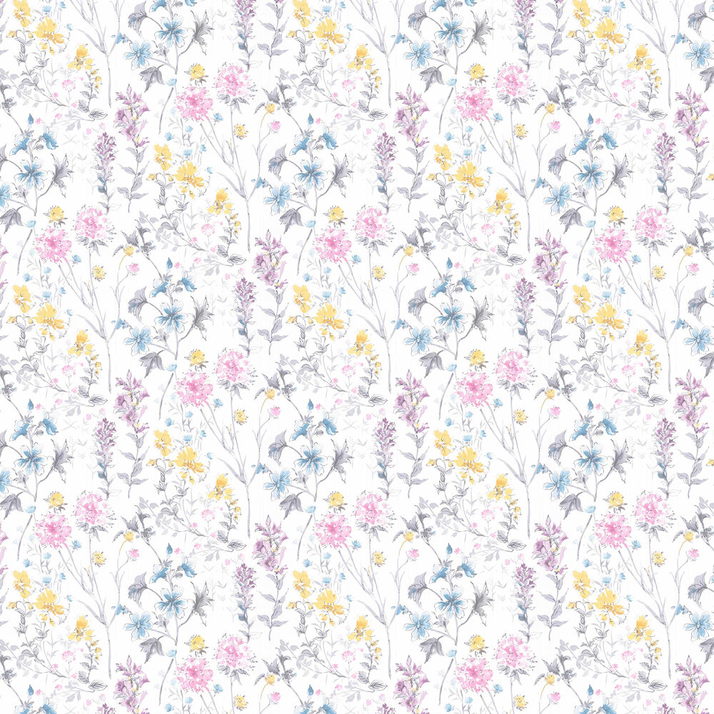 Laura Ashley Wild Meadow Multi-coloured Wallpaper - Product code: 3702980