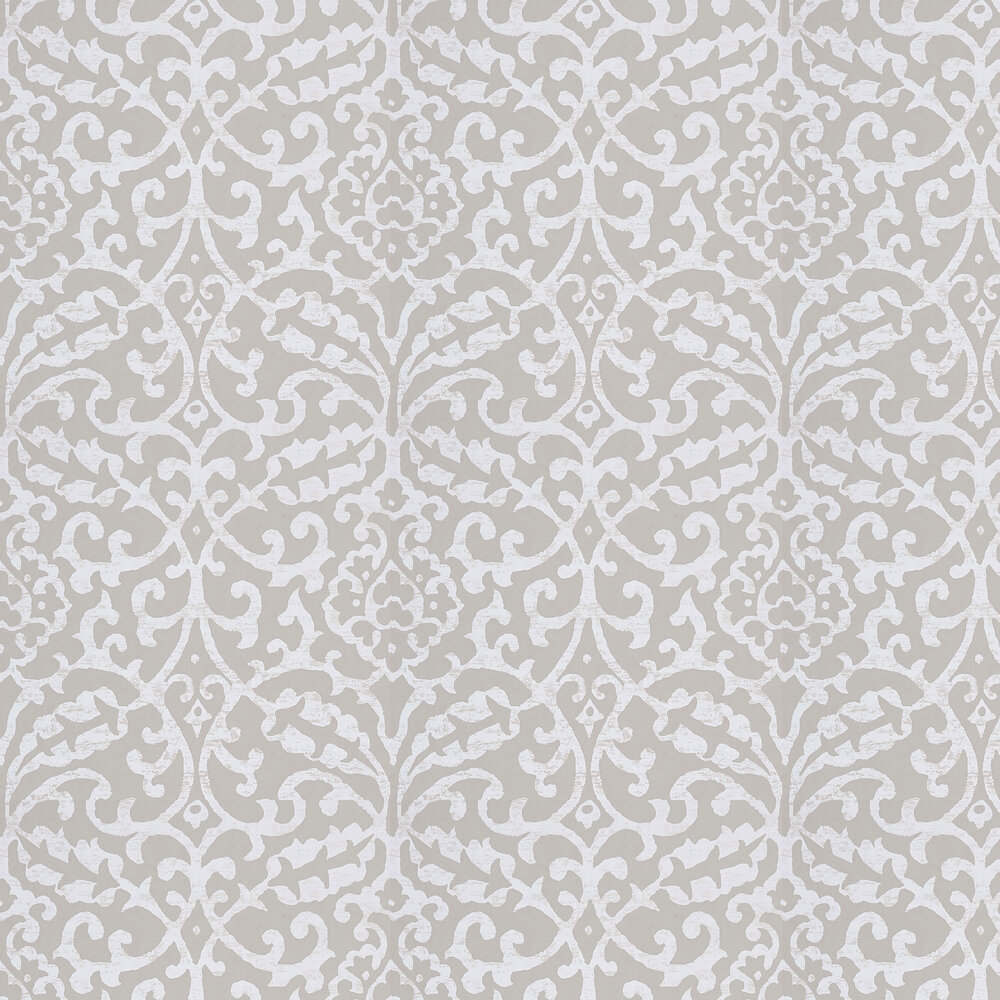 Brideshead Wallpaper - Grey - by Nina Campbell
