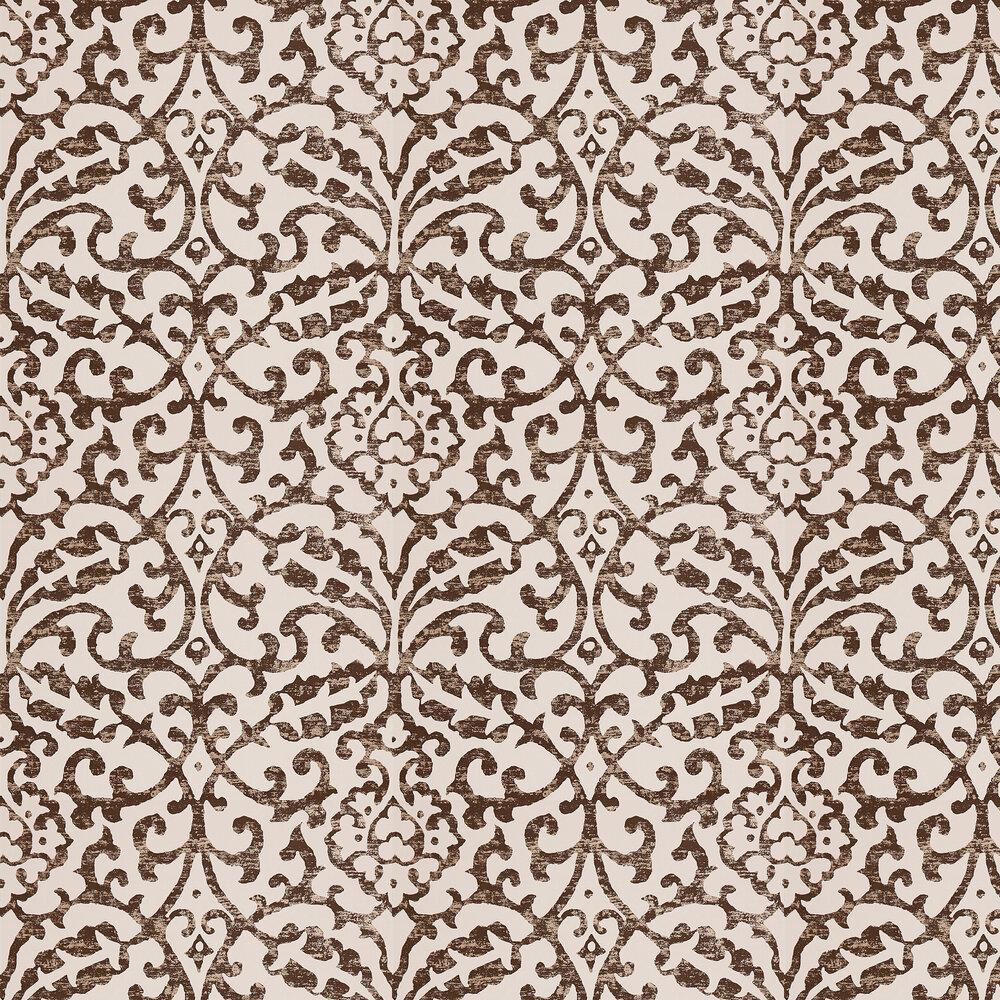 Brideshead Wallpaper - Charcoal/ Ivory - by Nina Campbell