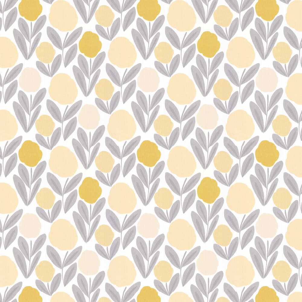 Laura Ashley Serena Steel / Sunshine Wallpaper - Product code: 3713976