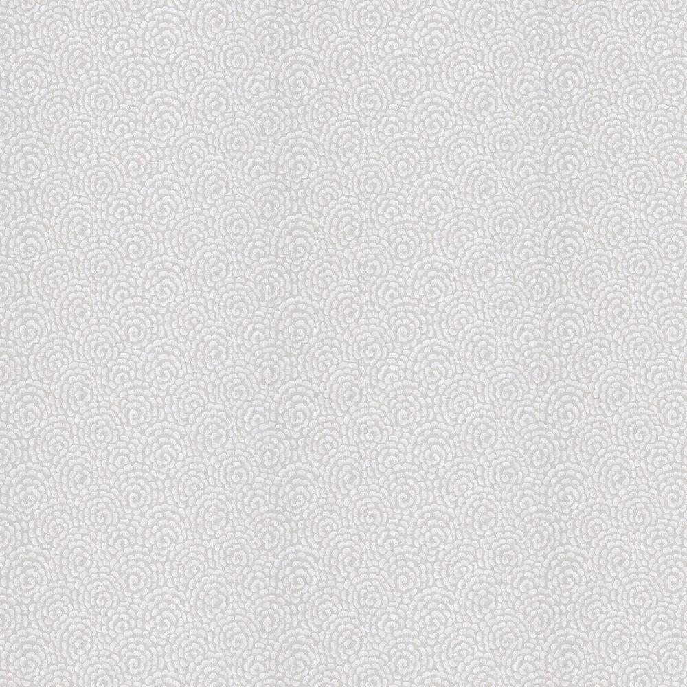 Kingsley Wallpaper - Dove Grey/ Ivory - by Nina Campbell