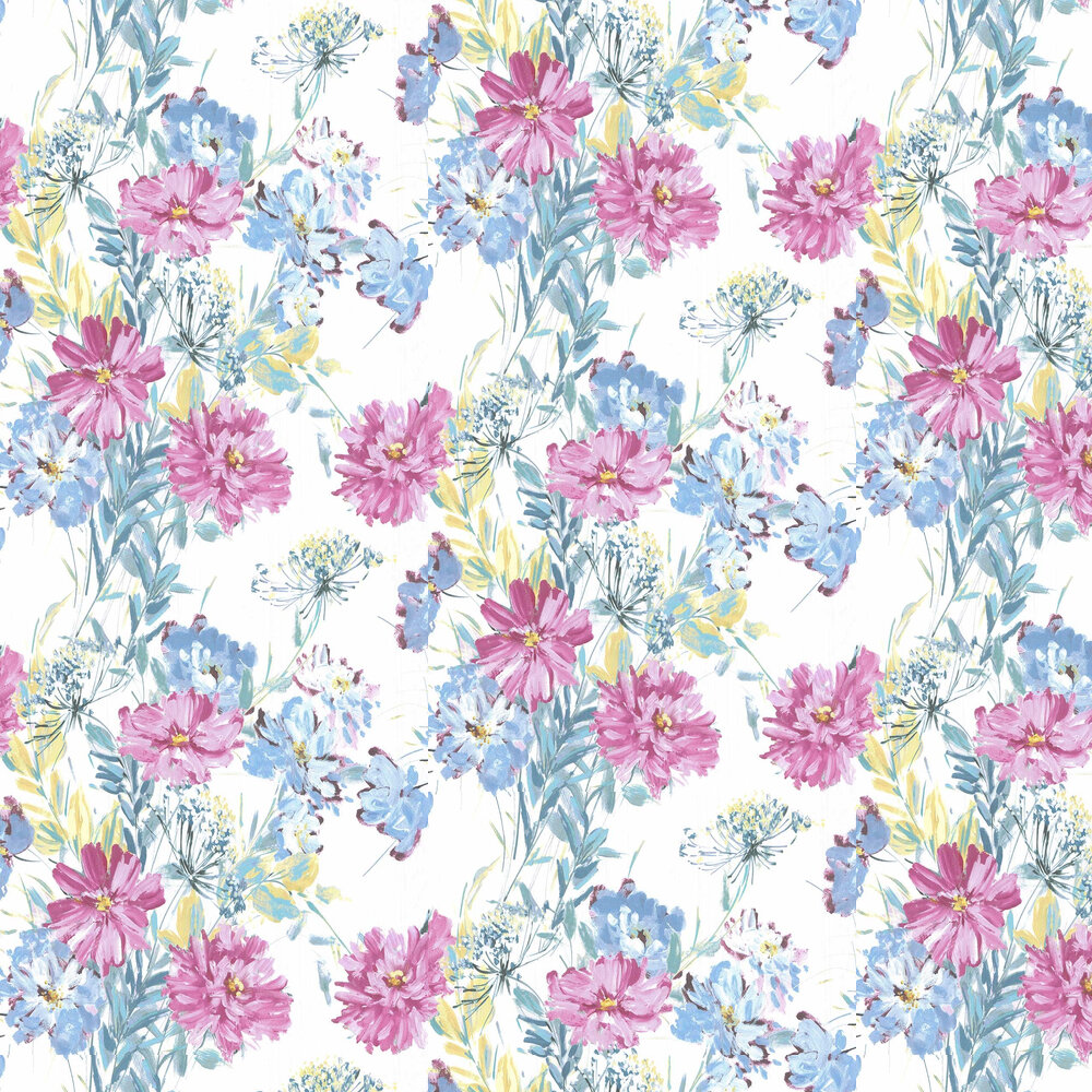 Laura Ashley Cosmos Off White / Grey Green Wallpaper - Product code: 3725987