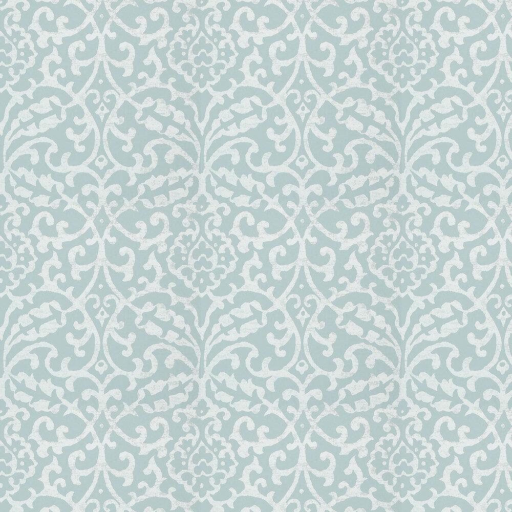 Nina Campbell Brideshead Aqua Wallpaper - Product code: NCW4396-03