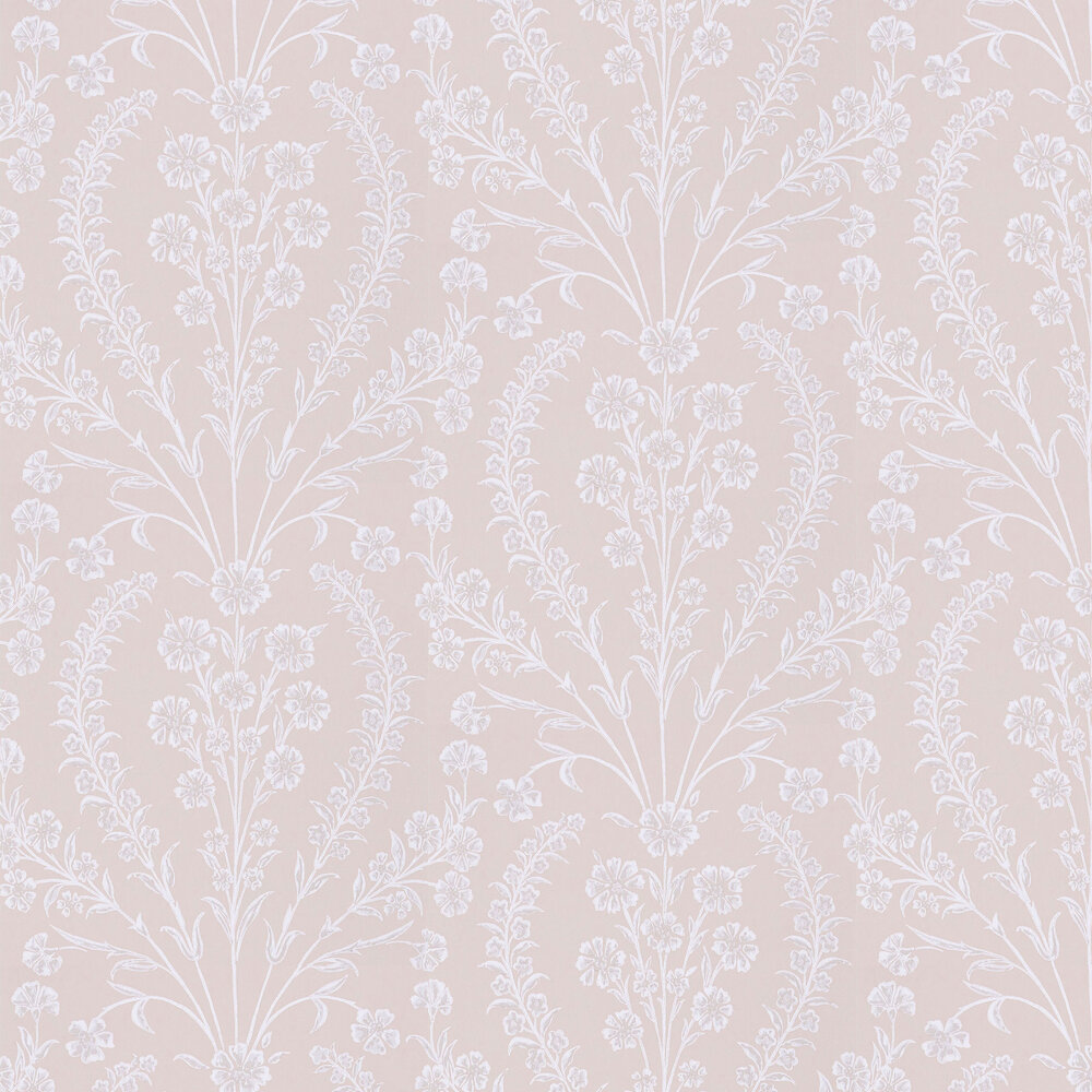 Chelwood  Wallpaper - Pink - by Nina Campbell