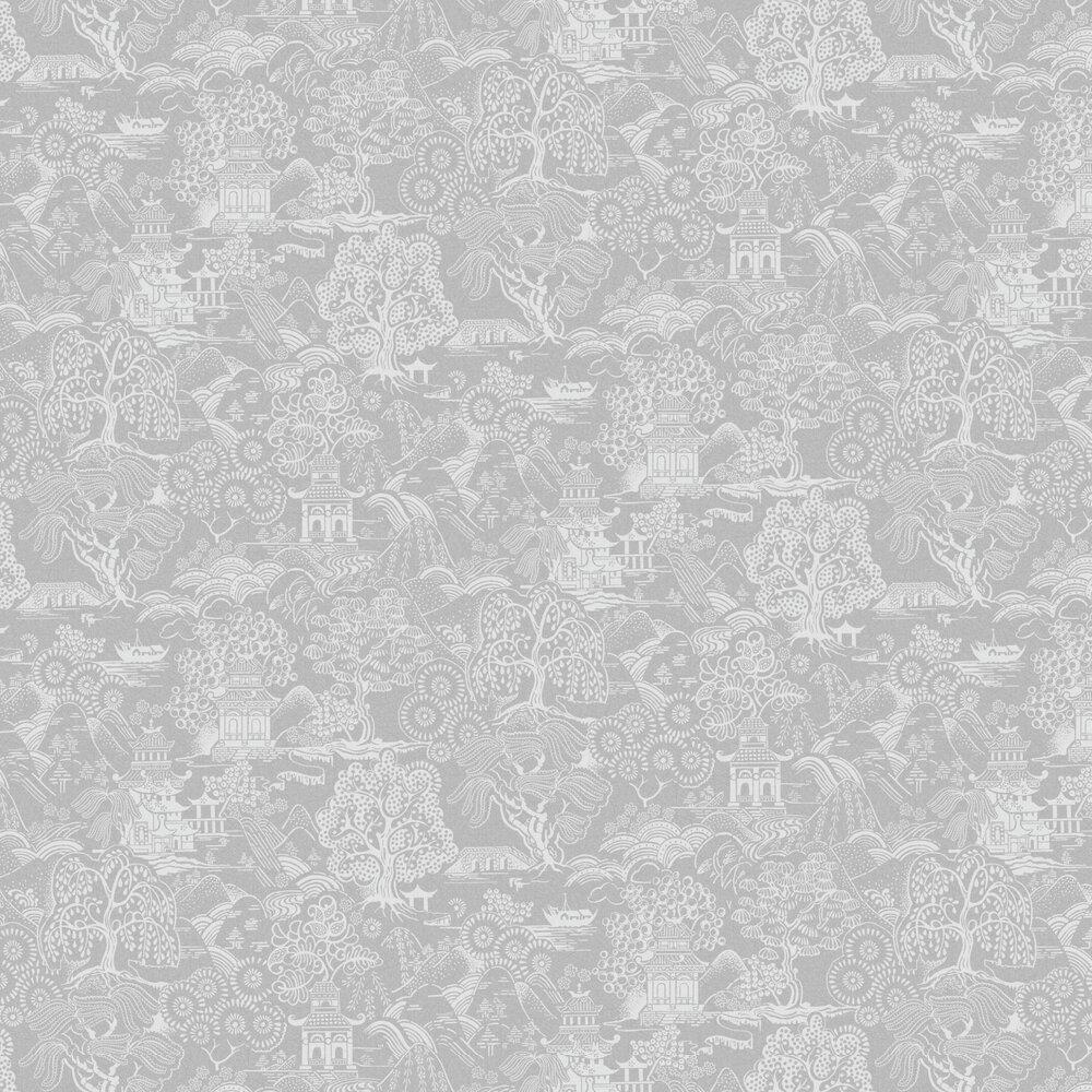 Basuto Wallpaper - Grey - by Graham & Brown