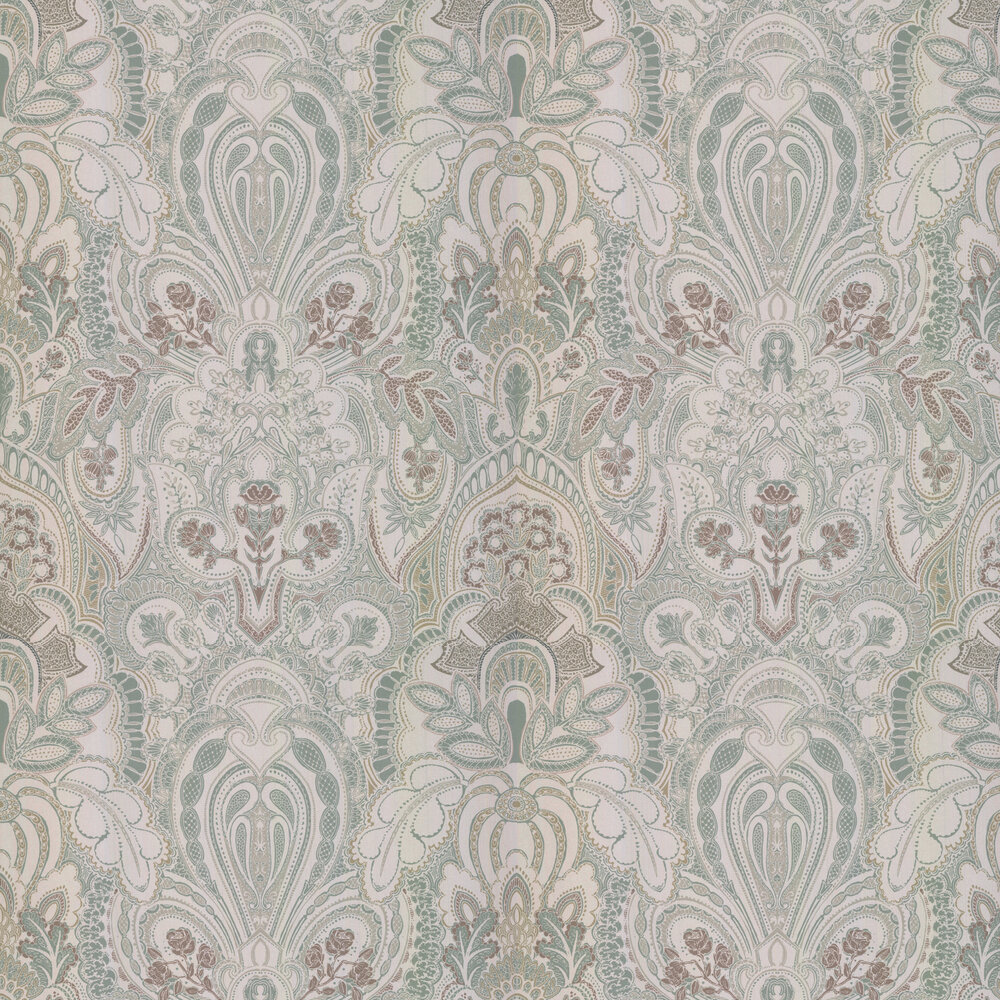 Damask Dangereuse Wallpaper - Cinnamon Rose - by Laurence Llewelyn-Bowen