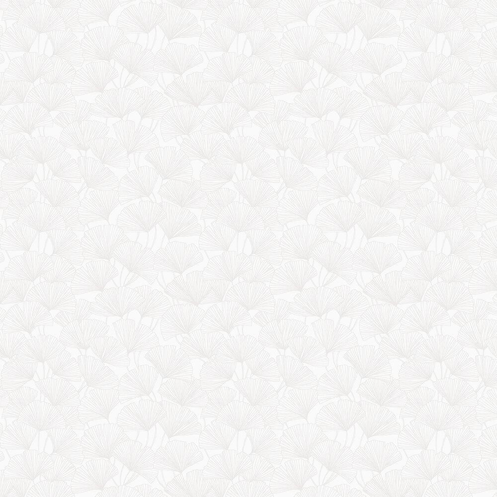 Boråstapeter Ginkgo White Wallpaper - Product code: 7264