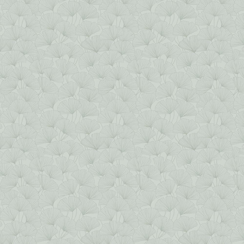 Ginkgo Wallpaper - Jade Green - by Boråstapeter