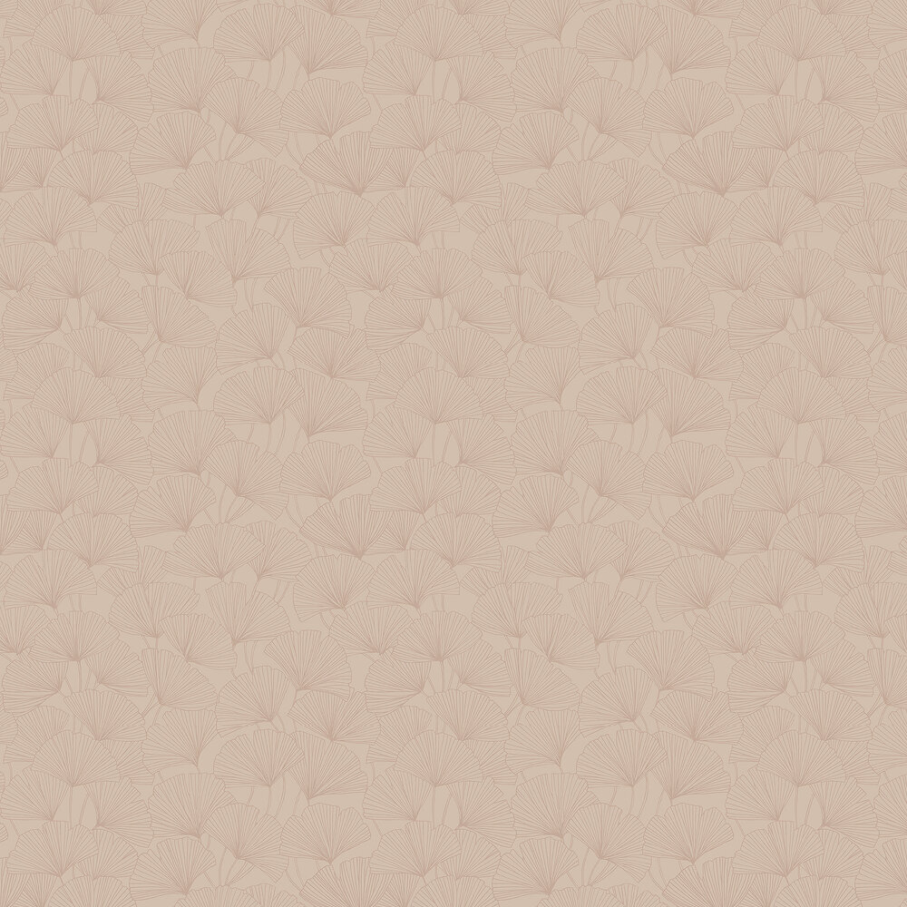 Ginkgo Wallpaper - Pink - by Boråstapeter