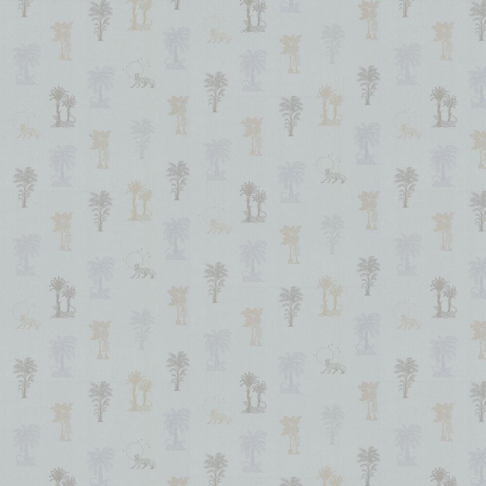 Topical Tropical Wallpaper - Grey / Metallics - by Laurence Llewelyn-Bowen