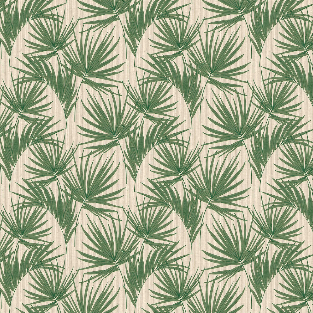 Aurora Palm Wallpaper - Green - by Albany