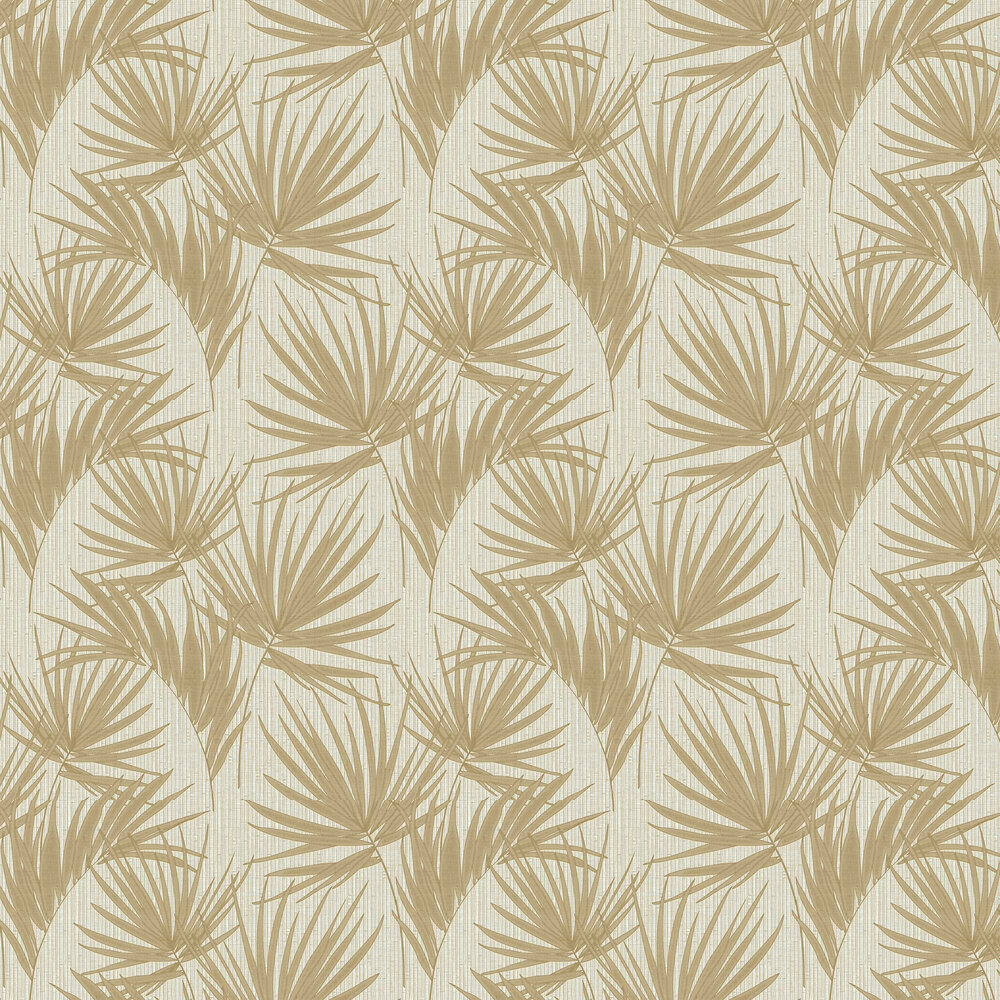 Aurora Palm Wallpaper - Gold - by Albany