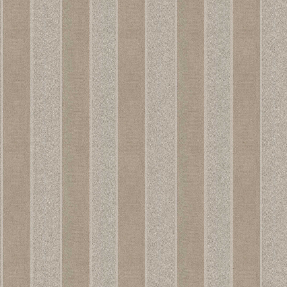 San Remo Stripe Wallpaper - Gold - by Albany