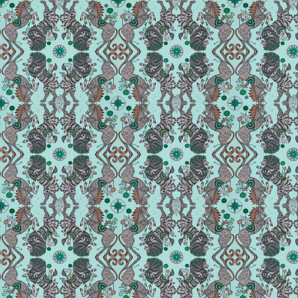 Caspian Wallpaper - Aqua - by Emma J Shipley