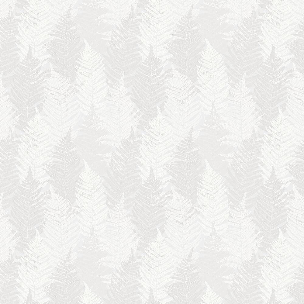 Fern Forest Wallpaper - White - by Boråstapeter