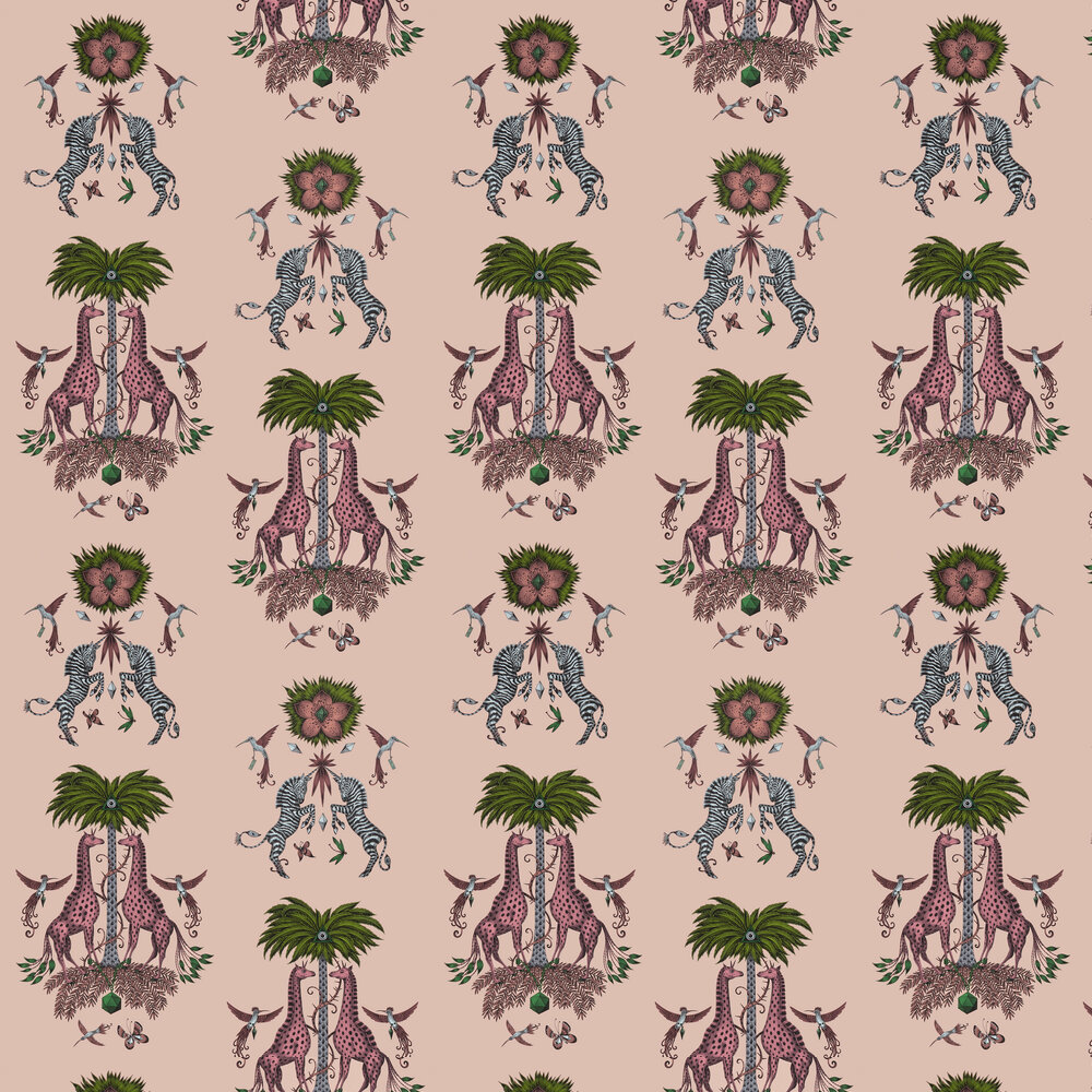 Creatura Wallpaper - Pink - by Emma J Shipley