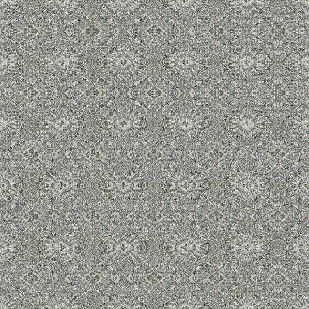 Boråstapeter Rustic Ornament Blue-Green Wallpaper - Product code: 1166