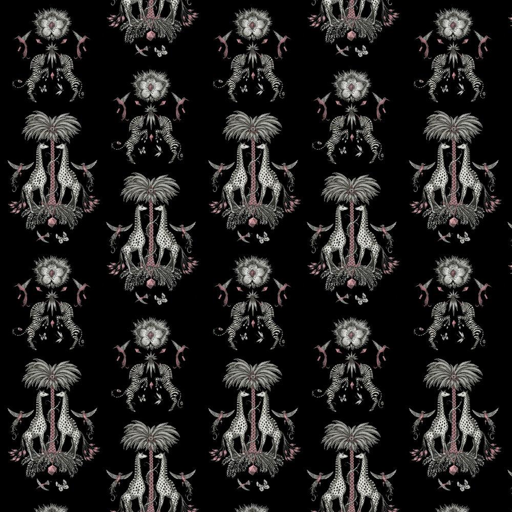 Emma J Shipley Creatura Charcoal Wallpaper - Product code: W0114/01