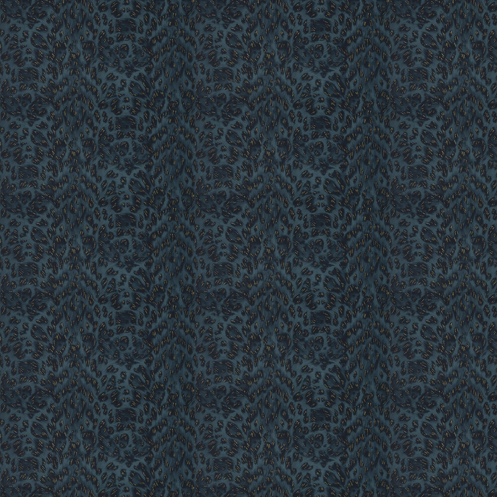 Felis Wallpaper - Navy - by Emma J Shipley