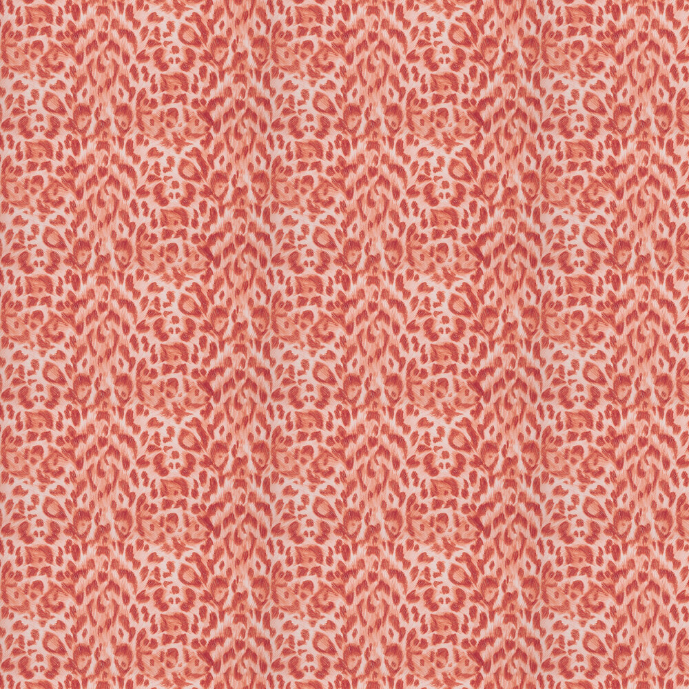 Emma J Shipley Felis Red / Rose Gold Wallpaper - Product code: W0115/08