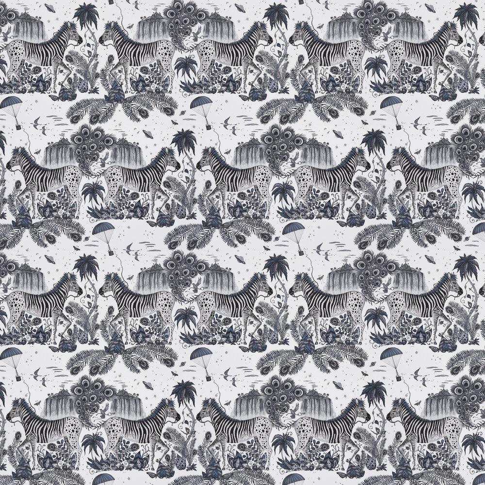 Lost World Wallpaper - Blue - by Emma J Shipley