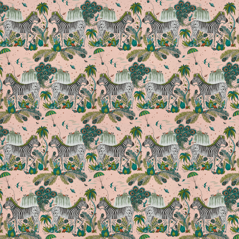 Lost World Wallpaper - Pink - by Emma J Shipley