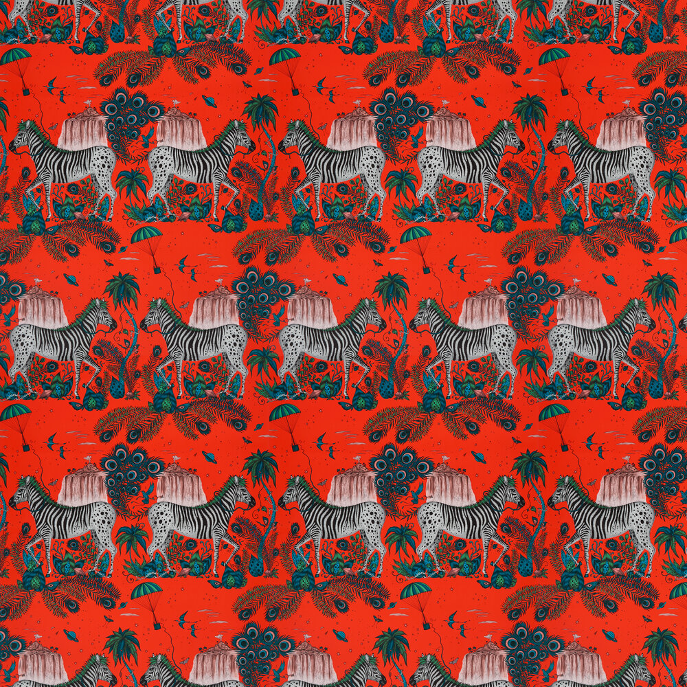 Emma J Shipley Lost World Red Wallpaper - Product code: W0117/05