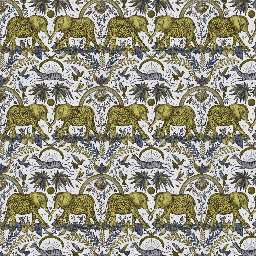 Zambezi  Wallpaper - Gold - by Emma J Shipley