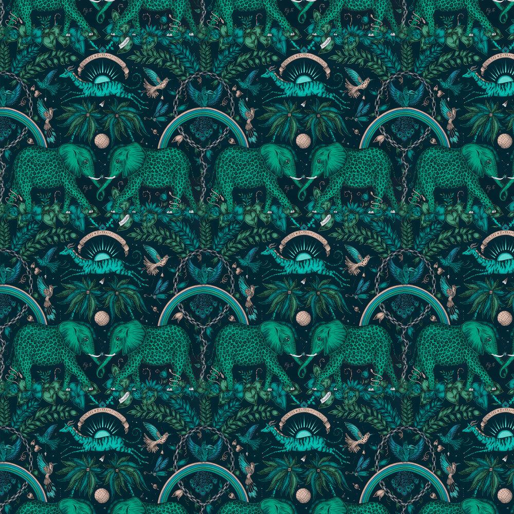 Emma J Shipley Zambezi Teal Wallpaper - Product code: W0121/06