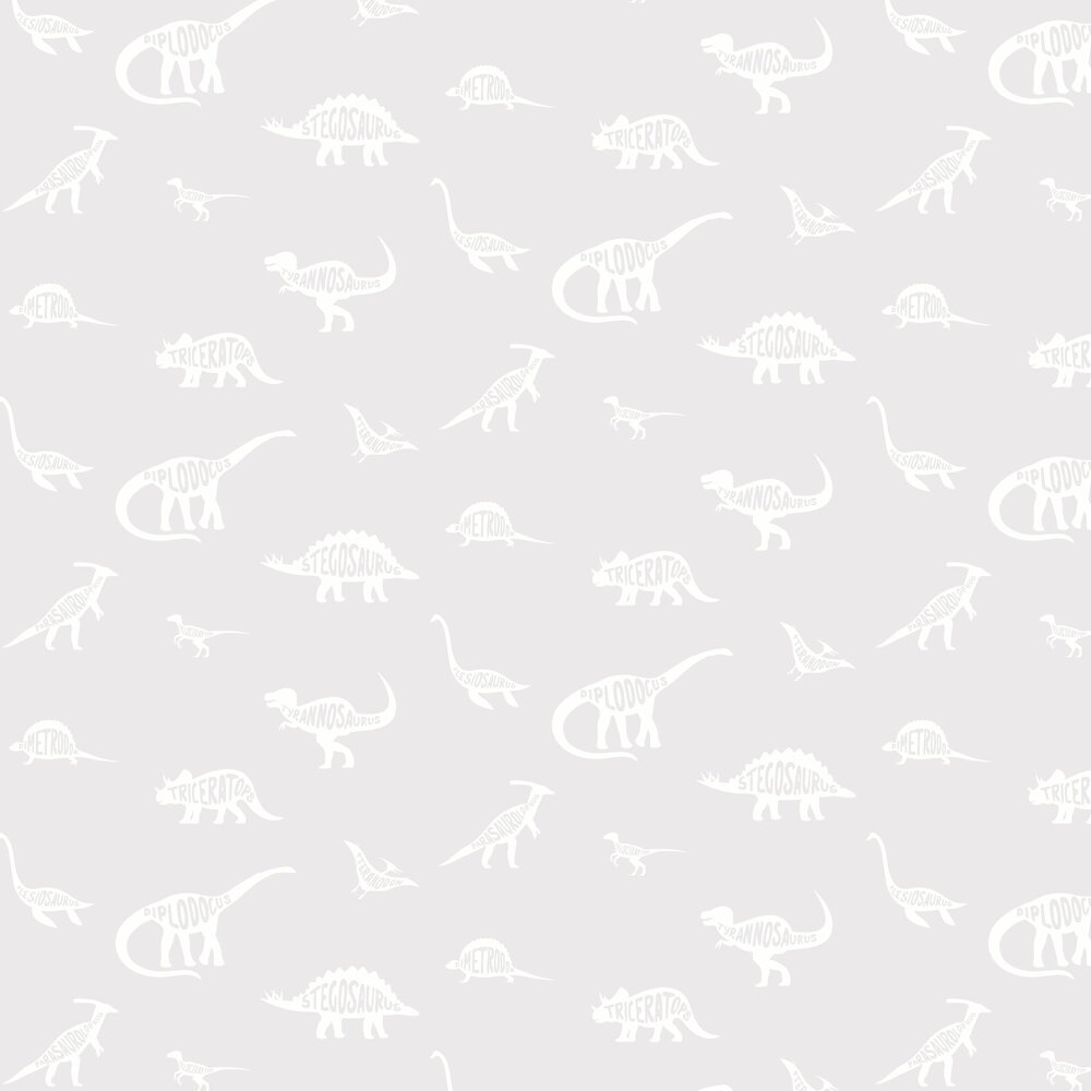 Dino Dictionary Wallpaper - Grey - by Albany
